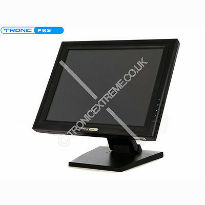 "15"" Lcd Touch Screen Monitor Display Usb Multimedia Uk Vga"