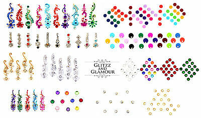 Bollywood Bindi Designer Head Sticker Gem Body Tattoos Art Bridal Craft Tikka