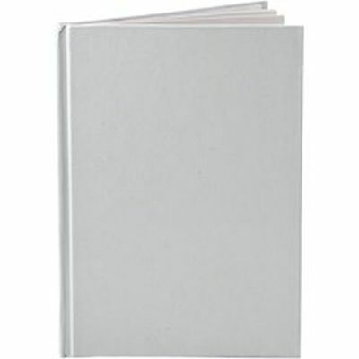 Plain White Notebook A5 - Blank Pages x 60 - Decorate Note Book - Home School