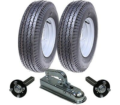 High speed trailer kit 5.00 - 10 road legal wheels + hub & stub axle, hitch
