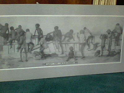 LAST ONE IN IS A N@#$@  .. BLACK Memorabilia  CHILDREN`SWIMMING PRINT. `UNUSUAL!
