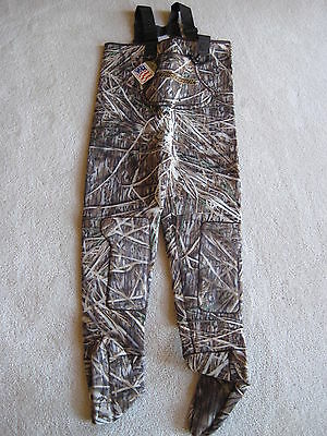 Men Shadow Grass Fishing/Hunting Stocking Foot Wader Sz XL Reversible Brown