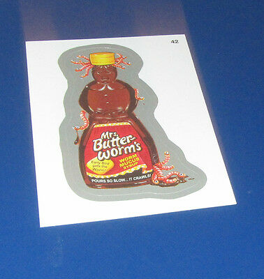 WACKY PACKAGES 2014 SERIES 1 SILVER FOIL #42 MRS. BUTTER-WORM'S    NM/MT