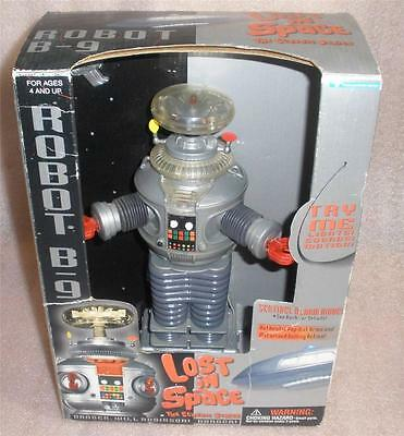 "Lost in Space Robot B-9 12"" tall Trendmasters in box TESTED working"