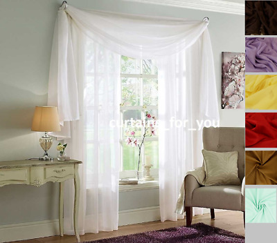 Voile Curtains Scarf Pelmet Valance 17 Colours Amazing For You Romantic Style