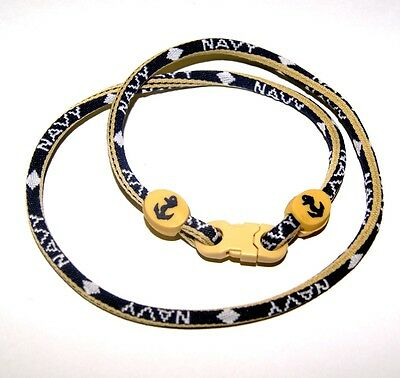 New U.S. Navy Titanium Energy Necklace Approximately 20 Inches Stocking Stuffer