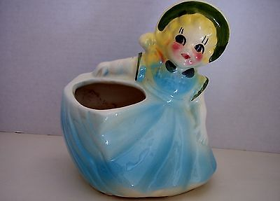 Rare American Bisque Southern Belle Planter