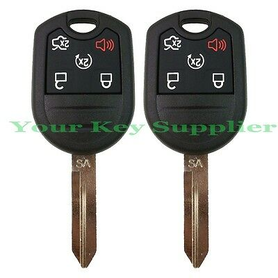 2 Brand New Uncut Replacement Keyless Remote Head Key Fob for ford 164-R8000