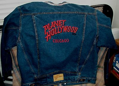"PLANET HOLLYWOOD CHICAGO Mens Denim XL Jacket ""NICE"""