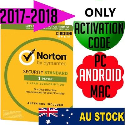 Norton Internet Security Standard  Anti-Virus 2017-2018 Multi-Device PC MAC NEW