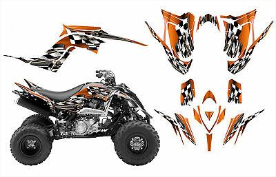 Yamaha Raptor 700 700R graphics 2013 2014 2015 custom deco kit #2500 Orange