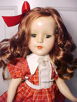 "Vintage 1950s 14"" American Character SWEET SUE Walker Doll in Vintage Dress"