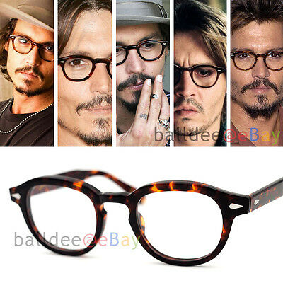 VINTAGE Eyeglasses Black Johnny Depp Optical Men Ladies Original Fashion Eyewear