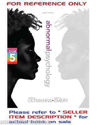 Abnormal Psychology 8th Edition by Oltmanns, Emery 8e