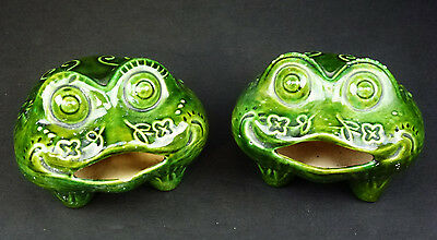 2 Nudie Toads Male Female Anatomically Correct Frogs Vtg 70s
