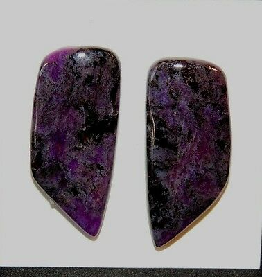Sugilite Cabochons Pair of 30x13mm from South Africa  (8225)