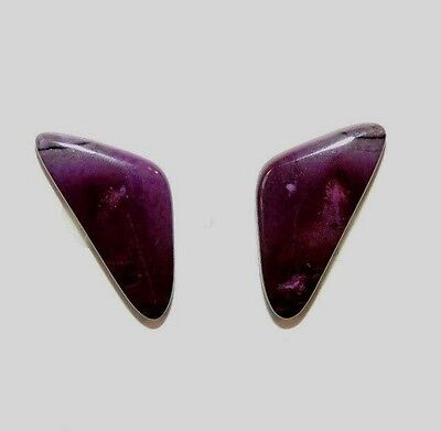 Sugilite Cabochons Pair of 15x11mm from South Africa  (8220)