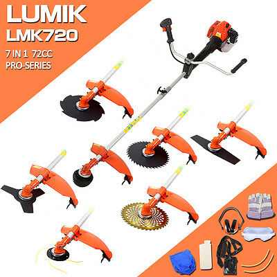 New 72Cc 7 In 1 Brushcutter Line Trimmer Whipper Snipper Brush Cutter Head Blade