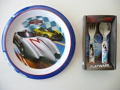 Thermos Speed Racer Plate & Flatware Dinner/Lunch Set