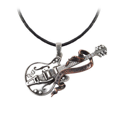 GENUINE Alchemy Gothic Pendant - Steel Guitar Rock'n'Roll | Men's Necklace