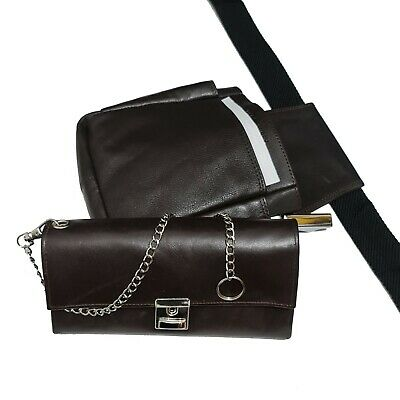 Real Leather Server Pouch Waitress Wallet Waiter Holster Purse