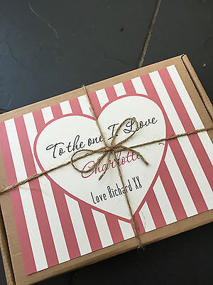 Personalised Valentines Retro Sweet/Chocolate Box, Gift, Present for him/her