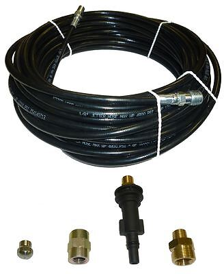 "AR Blue Clean Sewer Jetter Kit - 50' x 1/8 Hose and Nozzle, 1"" to 3"" Pipes"