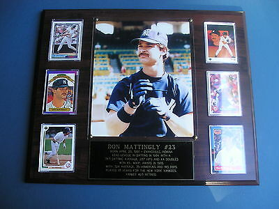 Don Mattingly New York Yankees 6 card plaque with custom engraving