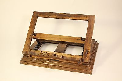 Rare Antique Wood Missal Bible Book Holder Stand Adjusts Rotates 360 Italy Made