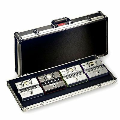 Stagg UP-C688 Black Chrome ABS Case For Guitar Effect Pedals New