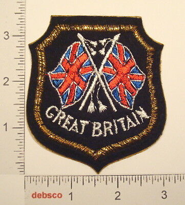 GREAT BRITAIN FLAGS Travel Souvenir Embroidered PATCH