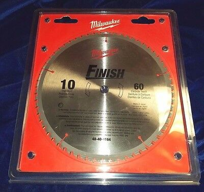 "Irwin 14074 10"" X 60T x 5/8 Carbide Tip Miter Table Circular Saw Blade Trim"
