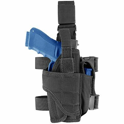 CONDOR Black TTLH Tornado Tactical Drop Leg Thigh Pistol Hand Gun Light Holster