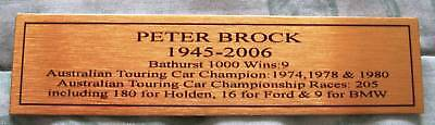 Peter Brock  Career Tribute Gold Sublimated Plaque