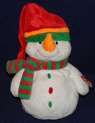 "9"" Ty Baby Pluffies MELTON SNOWMAN Plush Doll 2003"