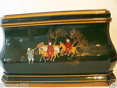 Laquer Oriental / Chinese Utility Hand Painted Box