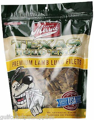 Merrick Texas Hold Em Lamb Lungs, Dog Treats, 12 oz