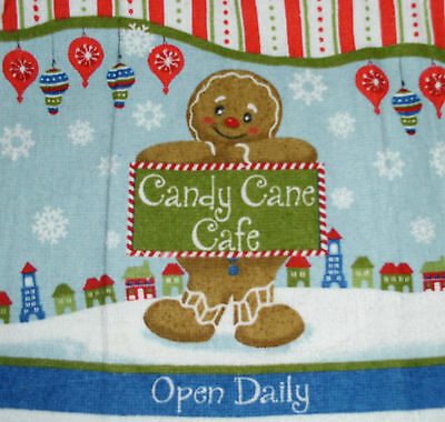 Kitchen Dish Towels Crochet Tops -Listing #t610 Christmas Gingy