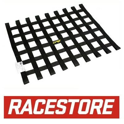 WINDOW NET BLACK 455x575mm SFI 27.1 APPROVED, RACE RALLY DRAG SPEEDWAY TRACK CAR