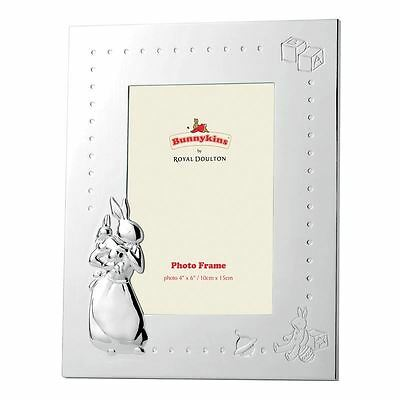Bunnykins by Royal Doulton - Silver Plate Photo Frame 10x15cm