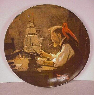 Norman Rockwell Collector Plate ;  The Ship Builder  : 1980