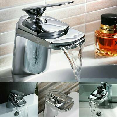 New Waterfall Chrome Bathroom Single Lever Basin Sink Mono Water Mixer Tap