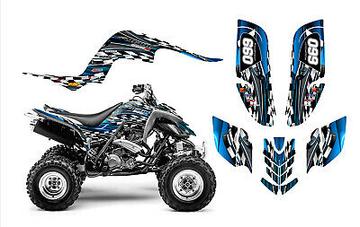 Raptor 660 graphics Yamaha 660R ATV custom sticker kit #2500 Blue