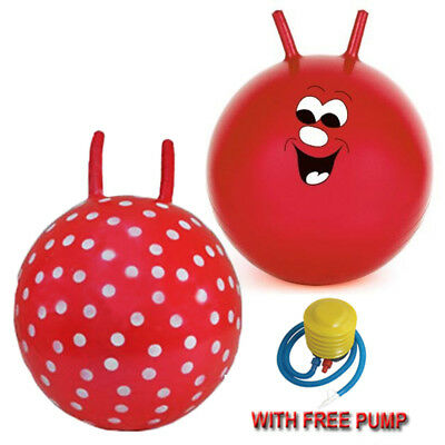 "New21"" Large Children Kid Space Hopper Jump Bounce Fun Ball Outdoor Toy 2Designs"