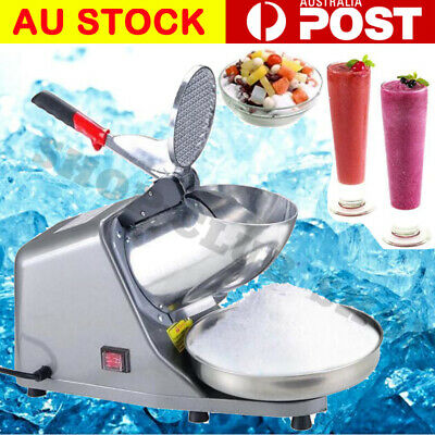 Electric Ice Crusher Shaver Commercial Machine Snow Cone Maker 65KG/H 1450R/min