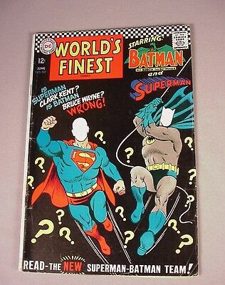 World's Finest Comics Book #167 DC comic 1967 Batman Superman Superhero VG/F