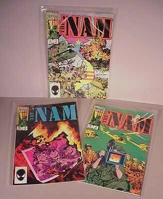 1986 The Nam Vietnam War Comics Books  #1 first issue #3, #4  Comic  High grade