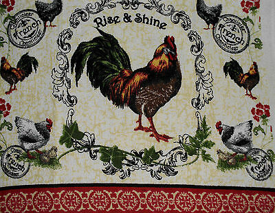 Kitchen Dish Towels Crochet Tops -Listing #t629 Rooster