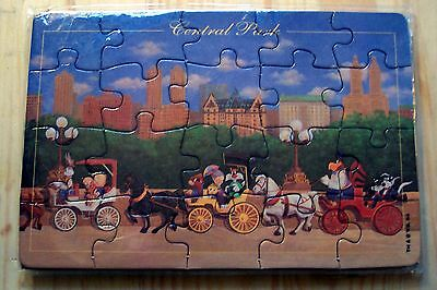 New York City Central Park Puzzle Postcard Looney Tunes Warner Brothers Bros