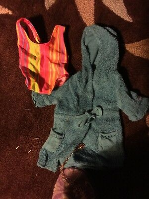 American Girl Doll Bathing Suit And Beach Robe New